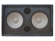 Powerful stage concerto audio speakers isolated on white Royalty Free Stock Photos