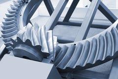 Powerful steel gear wheels Royalty Free Stock Photo