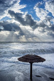 Powerful storm in autumn day Royalty Free Stock Image