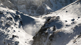 Powerful storm on the mountain Stock Images