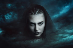 Powerful storm witch. Dramatic cloudscape Royalty Free Stock Photos