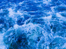 Powerful stream of clean water turbulent Royalty Free Stock Photos