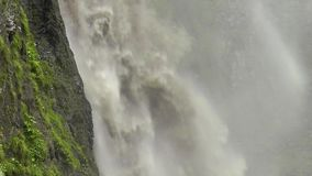 Powerful stream waterfall stock footage