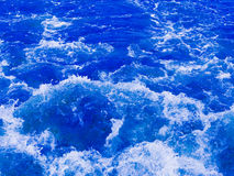 Powerful stream of whitewater foaming Stock Images