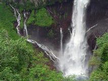 Powerful summer waterfall. Waterfall Kegon at summer time, Nikko Japan Stock Image