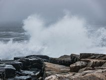 Powerful Surf, Schoodic Peninsula, Acadia National Park Stock Images