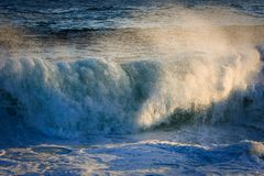 Powerful surging storm swell. Stock Images
