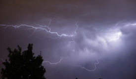 Powerful Thunderstorm Electrical Storm Lightning Strike Energy Stock Image
