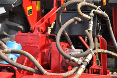 Powerful tractor engine Stock Photography