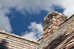 Stone Chimney Stock Photography