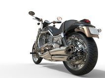 Powerful Vintage Motorcycle - Back Wheel View Royalty Free Stock Image