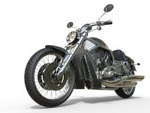 Powerful Vintage Motorcycle - Closeup Royalty Free Stock Photos