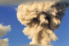 Powerful Volcani Mushroom Explosion Stock Photos