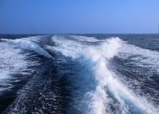 Powerful Wake Surf Royalty Free Stock Image