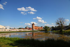 The powerful walls of the Kremlin. Royalty Free Stock Photography
