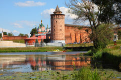 The powerful walls of the Kremlin. Royalty Free Stock Photo