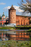 The powerful walls of the Kremlin. Stock Image