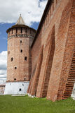 The powerful walls of the Kremlin. Kolomna. Russia Stock Photography