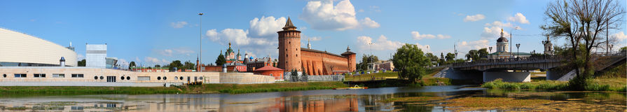 The powerful walls of the Kremlin. Royalty Free Stock Images