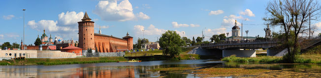 The powerful walls of the Kremlin. Panorama. Royalty Free Stock Photo