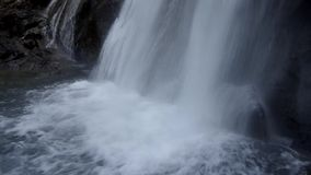 Powerful waterfall stock video footage