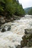 Powerful waterfall Probiy close up in Yaremche, Ukraine Stock Photo