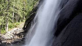 Powerful waterfall with sound stock video