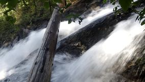 Powerful waterfall with sound stock footage