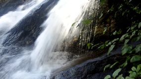 Powerful waterfall with sound stock video footage