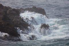 Wave Crashing on Rocky California Coast Stock Images