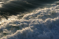 Powerful Waves. Nature's power is evident in these rushing ocean waves Royalty Free Stock Image