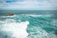 Powerful waves on atlantic coast, biarritz, basque country, france Stock Photo