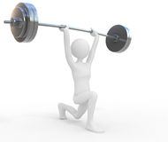 Powerful weightlifter. 3d concept illustration Royalty Free Stock Photography