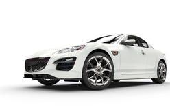 Powerful White Car Stock Photo