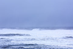 Powerful winter storm on Atlantic ocean Stock Image