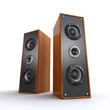 Powerful wooden speakers Stock Photography