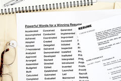 powerful words resume royalty free stock images