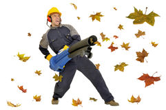 Powerful worker Royalty Free Stock Image
