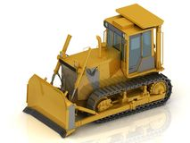 Powerful yellow crawler Stock Photo