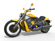 Powerful Yellow Motorcycle Royalty Free Stock Photos