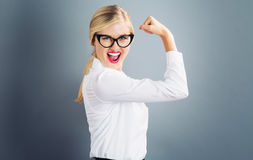 Free Powerful Young Blonde Woman Stock Images - 89851004