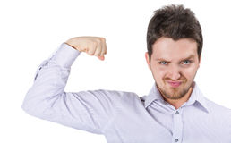 Powerful young business man stock images