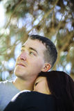 Powerful young couple Royalty Free Stock Photography