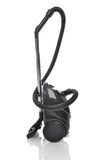 Powerfull black Vacuum cleaner on the floor Stock Photography