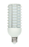 Powerfull energy saving LED light bulb. LED light bulb with 224 diodes producing 1000 lumens (same as 70W incandescent). The new era of  lamps as incandescent Royalty Free Stock Photography