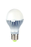 Powerfull energy saving LED light bulb. LED light bulb . The new era of lamps as incandescent get banned in more and more countries. Isolated against white Royalty Free Stock Images