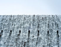 Powerfull flow of water from a large dam Royalty Free Stock Image