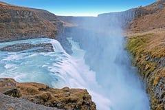 Powerfull Gullfoss Waterfalls in Iceland Stock Photography