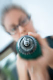 Powerfull hammer drill Royalty Free Stock Image