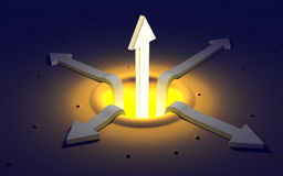 A powerfull luminous arrow Stock Image